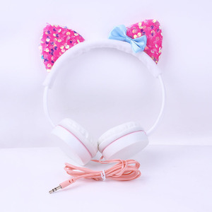 Wired cat headphone,kids' earphone, gift headset